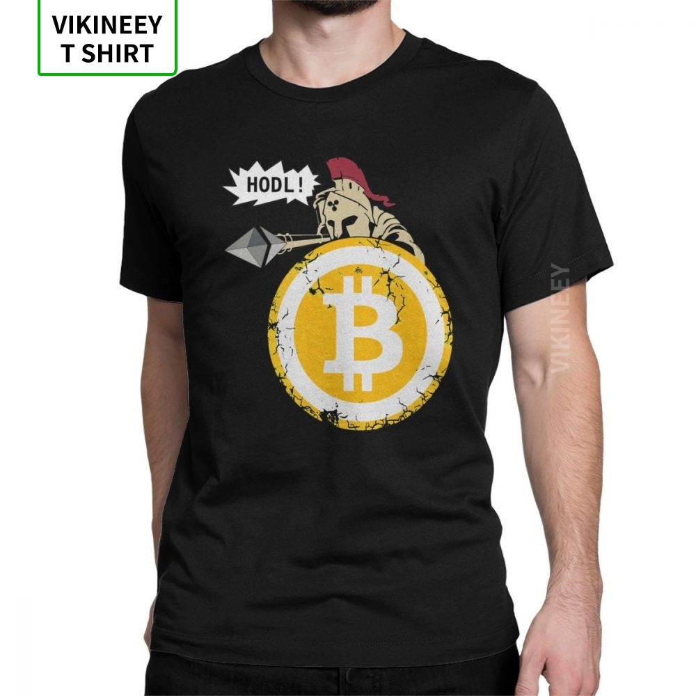 Bitcoin HODL Your Cryptos Cryptocurrency Funny T Shirt For Men Short Sleeves Clothes New Arrival Tee Shirt 100% Cotton T-Shirt