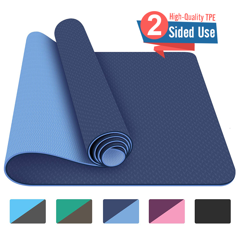 183x800x8mm TPE Yoga Mat With Double Sided Use Big Size Non Slip Carpet Mat For Beginner Environmental Fitness Gymnastics Mats