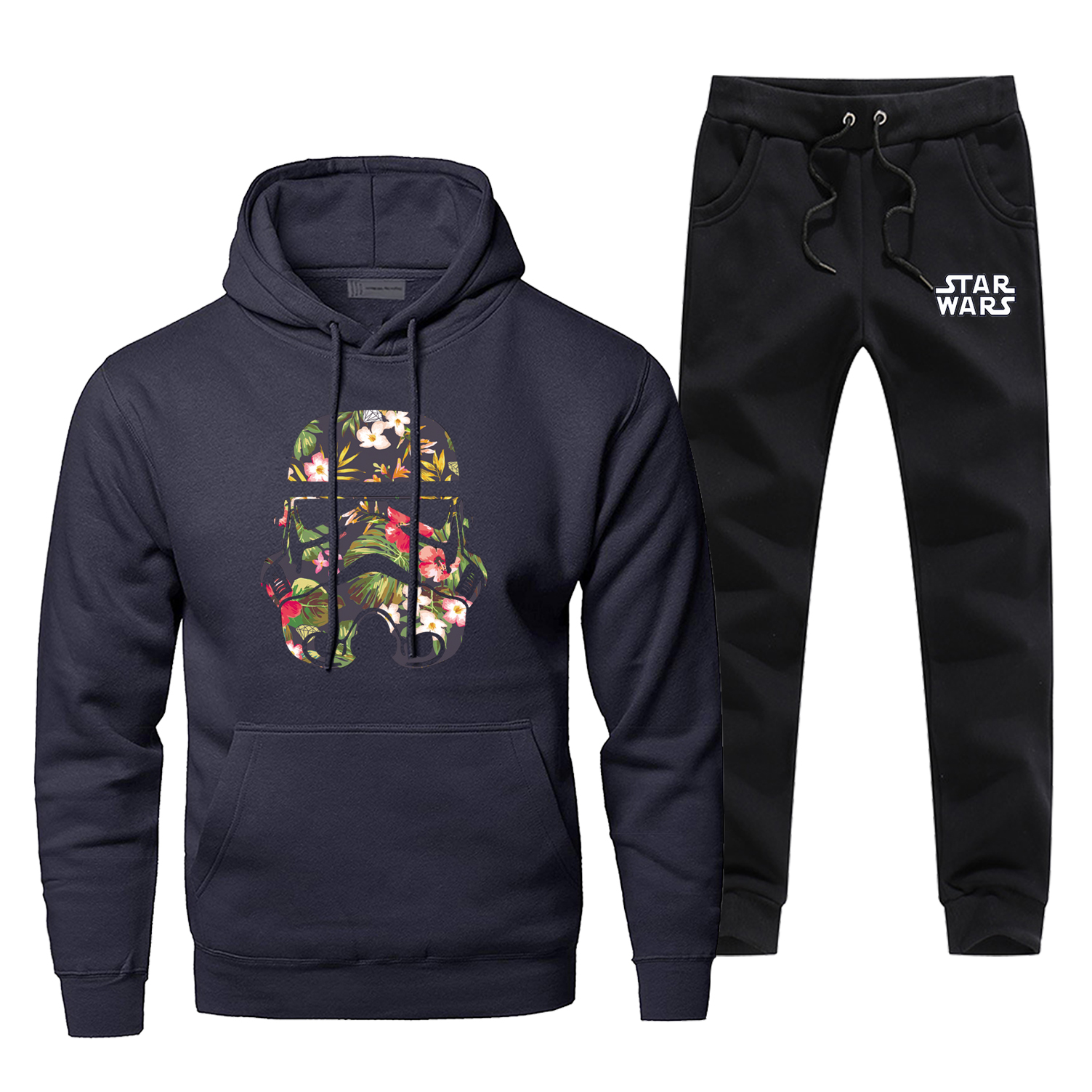 Star Wars Hoodies Men Darth Vader Funny Sportswear Hoodie+pants 2Pcs Sets Casual Fleece Men's Sweatshirt Tracksuit Sweatpants
