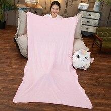 Pillows Blanket Soft Dinosaur Kawaii Plush-Toys Stuffed-Dolls Unicorn Animal Elephant
