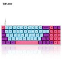 Mekanik oyun klavyesi süblimasyon PBT Keycaps programlanabilir SK71 GK71 Joker sıcak değiştirilebilir NKRO Gateron eksen RGB arkadan aydınlatmalı