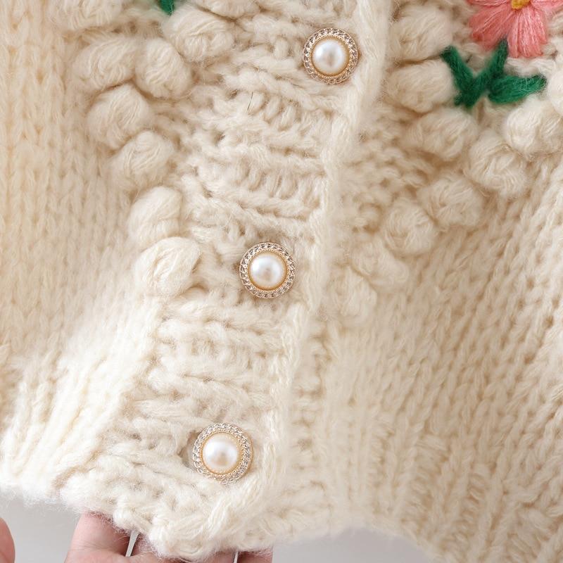 Купить женский свитер ручной работы роскошный подиумный зимний кардиган