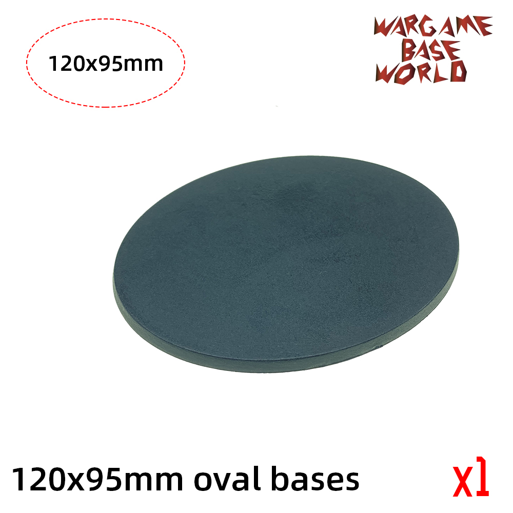 120 X 95mm Oval Base  Model Plastic Bases For Games