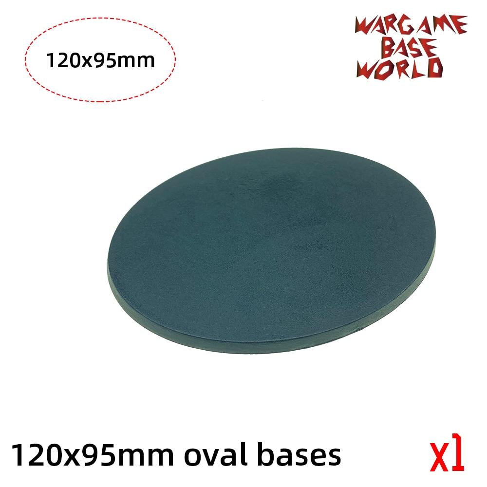 120 X 95mm Oval Base  Model Plastic Bases For Games