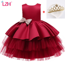LZH Infant Dress Newborn Clothes Summer Costumes Baby Princess Party Dresses For Baby Girls Dress Kids 1st Year Birthday Dress