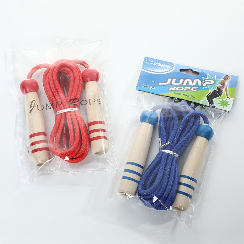 Wooden Handle Fitness Jump Rope Children Sports Casual Cartoon Jump Rope Students The Academic Test For The Junior High School S