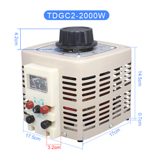 2KW Single-phase AC Contact Voltage Regulator Variac Power Converter Voltage Transformer 220V To 0-250V TDGC2-2KVA 10pcs lot intersil isl6263crz 6263crz 5 bit vid single phase voltage regulator for imvp 6 santa rosa gpu core