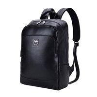 ABDB Bullcaptain Leather Multi Function Men'S Computer Backpack Fashion Simple Mens Travel Bag Men'S Storage Bag