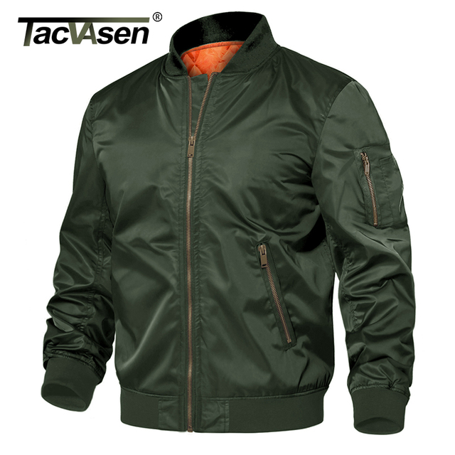 TACVASEN Winter Military Jacket Outwear Mens Cotton Padded Pilot Army Bomber Jacket Coat Casual Baseball Jackets Varsity Jackets 2