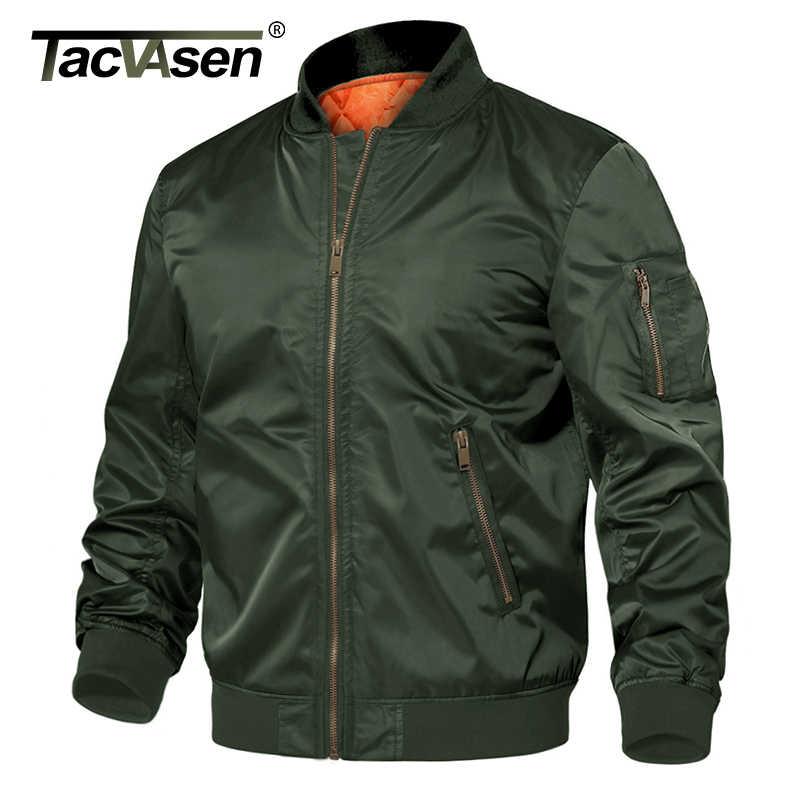 TACVASEN 겨울 밀리터리 자켓 아웃웨어 남성면 패딩 파일럿 MA-1 폭격기 재킷 코트 캐주얼 야구 재킷 대표팀 재킷