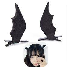 1 Pair Halloween Party Headwear Women Girls Mini Bat Wings Hairpins Hair Clips Barrette Novelty Horror Hair Accessories