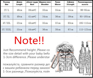 Image 5 -  30℃ orangemom Russia winter jacket for girls boys coats & outerwear , warm duck down kids boy clothes shiny parka ski snowsuit