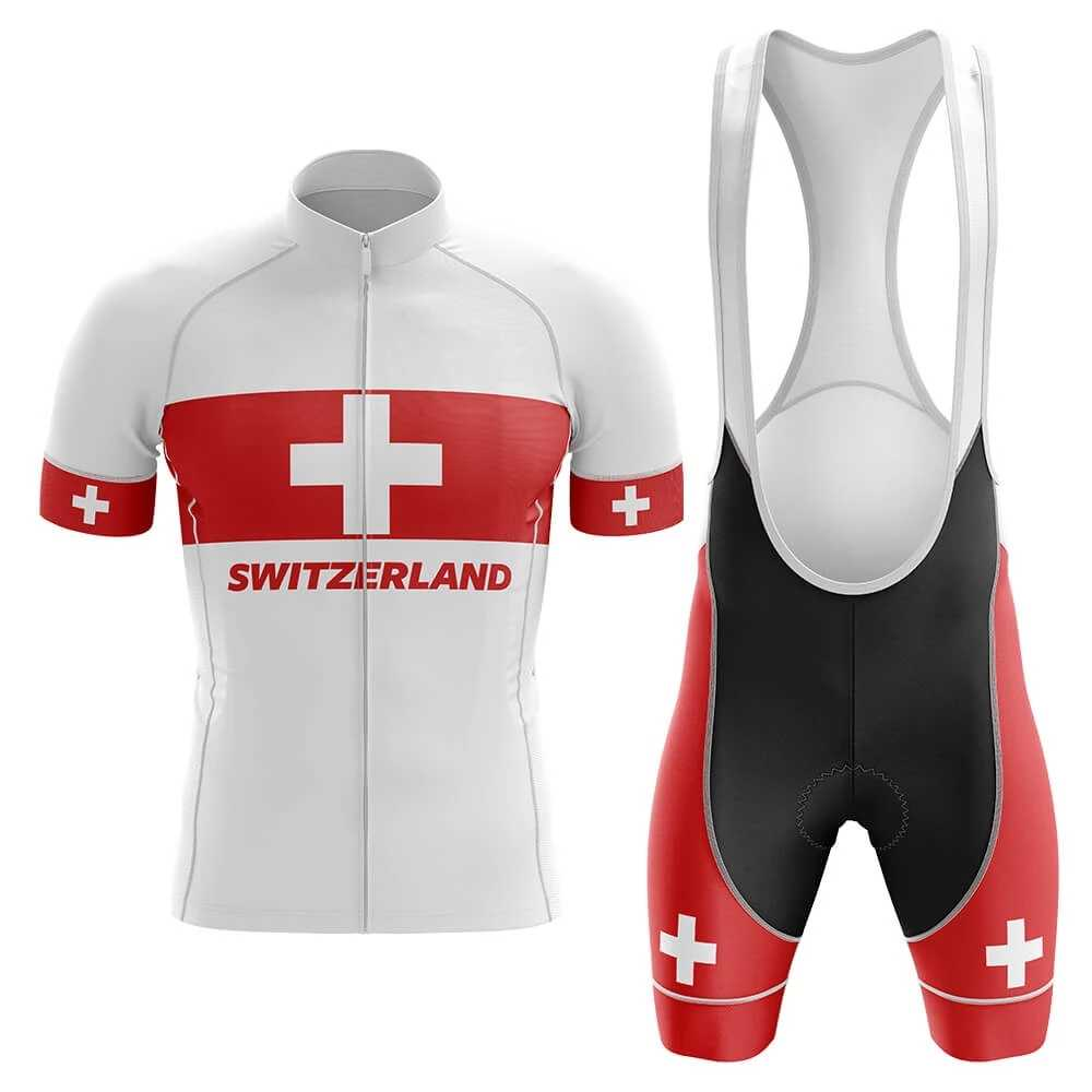 2020 Zwitserland Team Pro Cycling Jersey Bike Shorts Set Zomer Mens Mtb Fiets Kleding Ropa Maillot Ciclismo Met Gel Pad