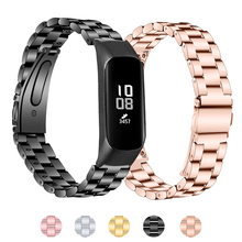 Laforuta Galaxy Fit-e R375 Band Stainless Steel Watchband Fitness Strap Women Men Bracelet Belt for Samsung SM-R375 Wriststrap
