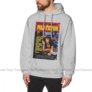 Image 4 - Pulp Fiction Hoodie Pulp Fiction Hoodies Outdoor Winter Pullover Hoodie Men Fashion Cotton Long Blue XXL Hoodies