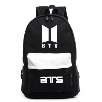 BTS Canvas School Bag Related Backpack Sports And Leisure School Bag Men's And Women's Student School Bag