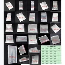 Sacs en Cellophane transparent, Lot, en plastique OPP affichage de carte, auto adhésif, fermeture à peau