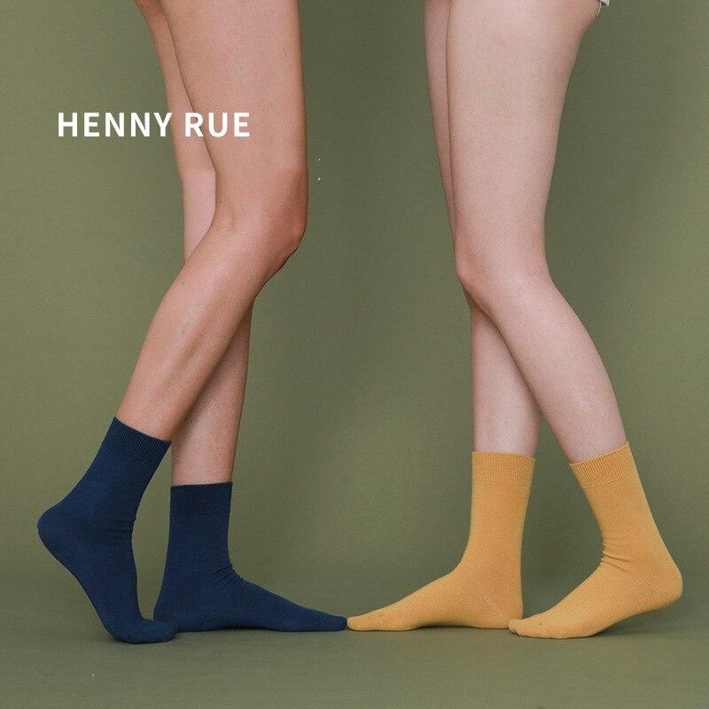 Unisex Socks 2020 New Spring 1 Pair Long Women Cotton Socks Style Color Women Fashion Fresh Cotton Socks For Women Korea Style