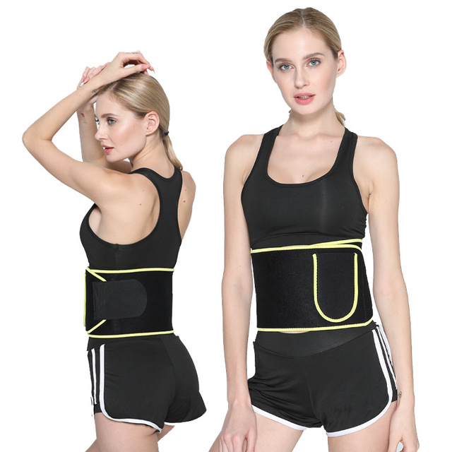 Professional Fitness Waist Support Motion Belt Women's Waist Sweating Multifunction Recoil Abdomen Female Sweat Protection Belt