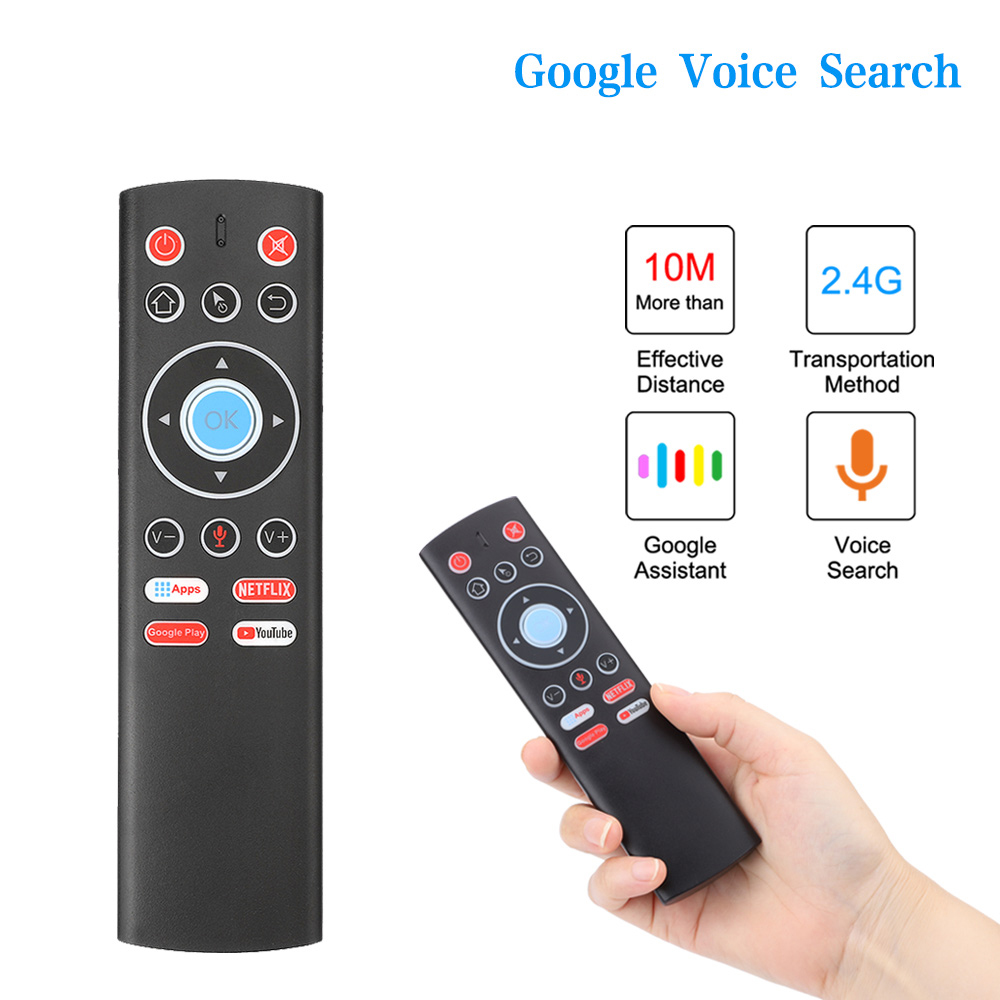 Voice Remote Control Air Mouse 2.4G Wireless Control For Android TV Box  Google Netflix Youtube Universal Roku Remote Control|Remote Controls