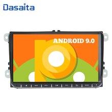 "Dasaita 9 ""Display Android 9.0 Auto 1 Din GPS Radio Player für Seat Leon Alhambra Altea Toledo mit Eingebautem GPS bluetooth DAB +"