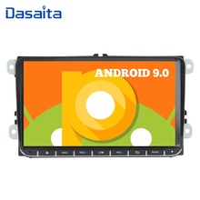 "Dasaita 9 ""exibir android 9.0 carro 1 din jogador de rádio gps para seat leon alhambra altea toledo com built in gps bluetooth dab +"