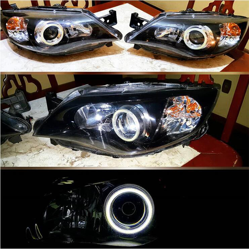 Qasim 1 pair of COB LED Angel Eyes Motorcycle Car Halo Rings for DRL Fog Light Headlight 60MM 45SMD DC12V Red