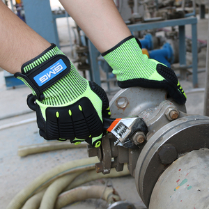 Image 5 - قفازات مقاومة للقطع المضادة للصدمات امتصاص الميكانيكا تأثير مقاومة GMG TPR قفازات أمان للعمل مكافحة الاهتزاز النفط واقية
