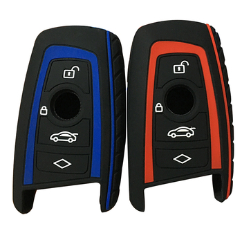 Silicone Key Fob Cover Case Skin Fit for BMW F10 F20 F30 Z4 X1 X3 X4 M1 M2 M3 E90 1 2 3 5 7 SERIES Smart Key 4button image
