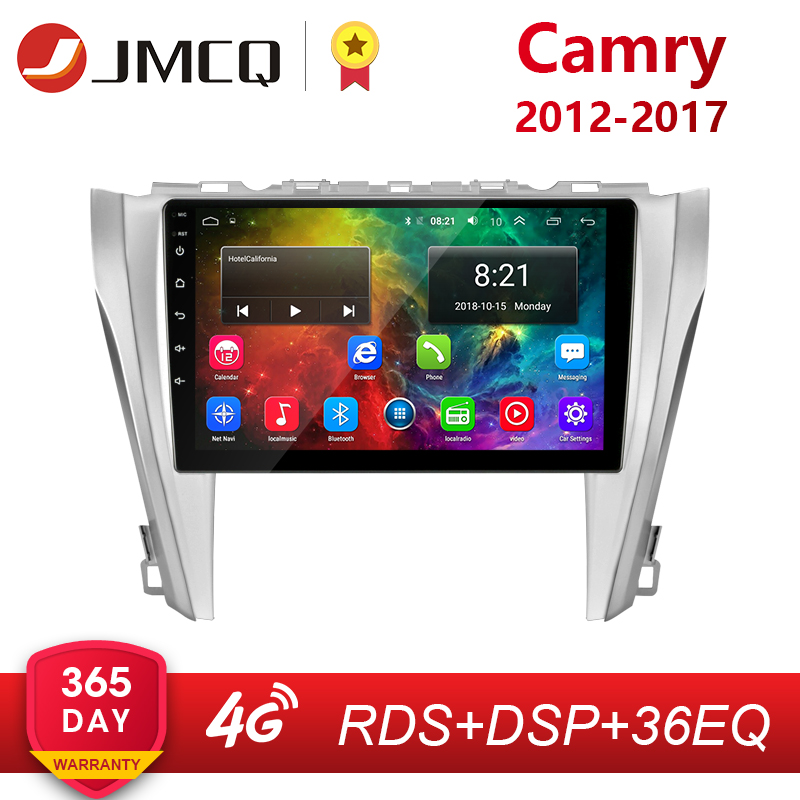 JMCQ Android 8.1 Car Radio For Toyota Camry 8 50 55 2012 2017 4G+Wifi  2G+32G coche players RDS Navigation GPS Head Unit 2 Din|Car Multimedia Player| |  - title=