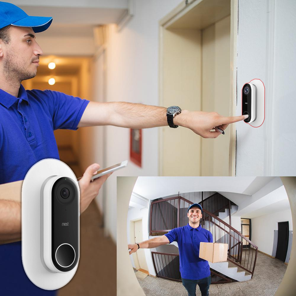 Nest Hello Wall Plate Protective Case Compatible With Adjustable Wedge Double Coated  UV Resistant Hard ABS Matt Finish