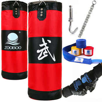 Bolsa de boxe para mma de 90cm, pendurada em saco de areia, bolsa de perfuração, lixa com luvas para treinamento ginástica fitness