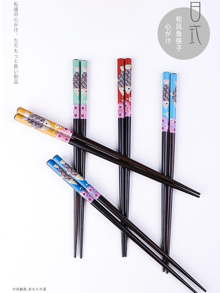 Купить 1 пара деревянные бамбуковые палочки для еды в японском стиле