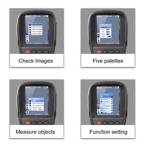 Image 5 - HT 18 ręczny IR cyfrowy kamera termowizyjna kamera detektora podczerwieni temperatura ciepło FLIR wysokiej rozdzielczości skaner diagnostyczny samochodu