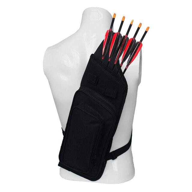Arrow Quiver Adjustable Archery Bag Hunting Back Arrow Quiver Tube with Back Strap Archery Arrow Case Holder 1