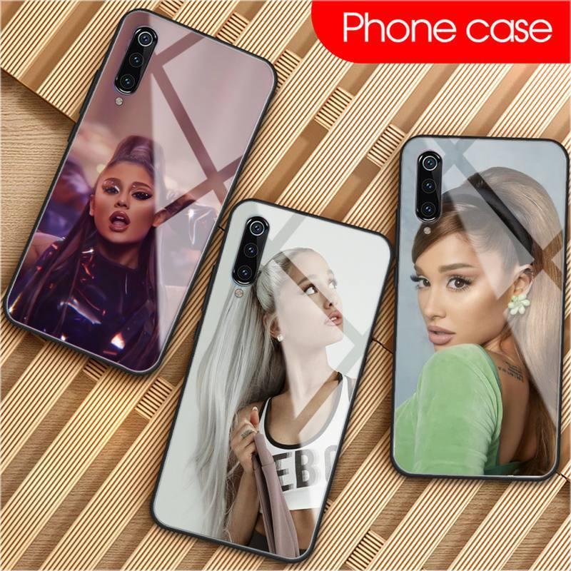 ZUOHC Ariana Grandes Phone Case For Xiaomi Mi 6 8 8Lite For Redmi 6 Note7 5 Phone Case Glass