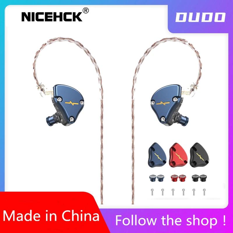 NICEHCK-auriculares HIFI NX7 MK3 IEM, 7 unidades, 4BA + doble CNT dinámico + piezoeléctrico híbrido reemplazable