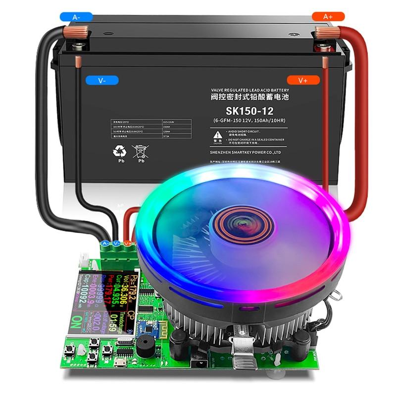 """2.4 """"4 fio dc usb tester carga eletrônica 18650 capacidade da bateria monitor de descarga carga power bank medidor fonte verificador app"""