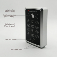 Control de Acceso Rfid de 125khz, prensa, teclado, sistema de Control de acceso de puerta, controlador de bloqueo de puerta, casillero y abridor de puerta
