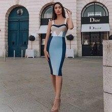 wholesale 2019 Newest Women dress Fashion color matching elegant Celebrity Cocktail party bandage