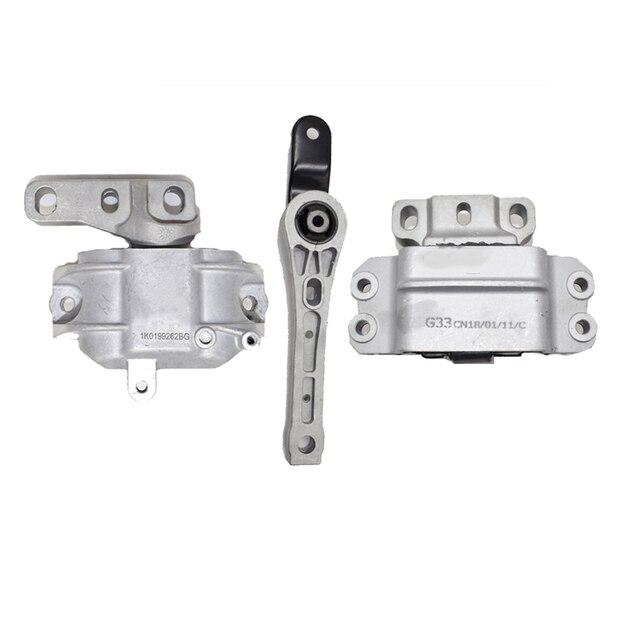 3PCS Engine Support &Gearbox Motor Mount Mounting Set For Audi A3 S3 VW Golf Jetta Touran Skoda 1K0199262M 1K0199262 1K0199555N 2