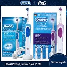 Oral B Sonic elektrikli diş fırçası D12 canlılık şarj edilebilir dönen Ultra sonic otomatik yedek kafaları elektronik diş fırçası