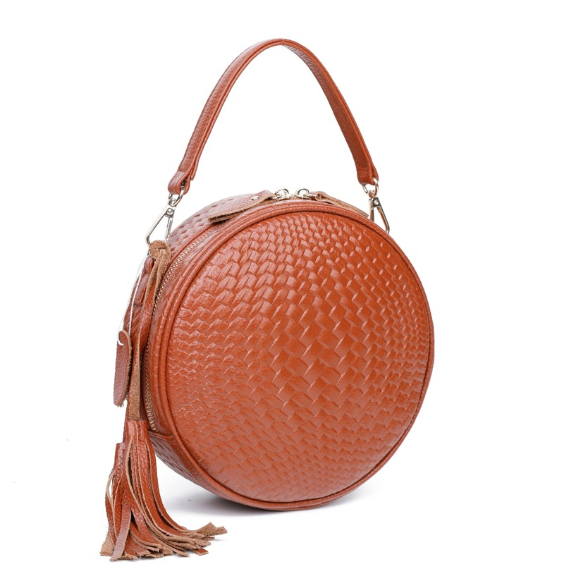 Cow Leather Crossbody Bags For Women Shoulder Bags Casual Round Handbag Female Genuine Leather Bags For Girls Spring 2020 New