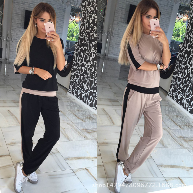 2018 Autumn And Winter Amazon Hot Sales Europe And America WOMEN'S Dress Sports Set Russia WOMEN'S Two-piece Suit FC069