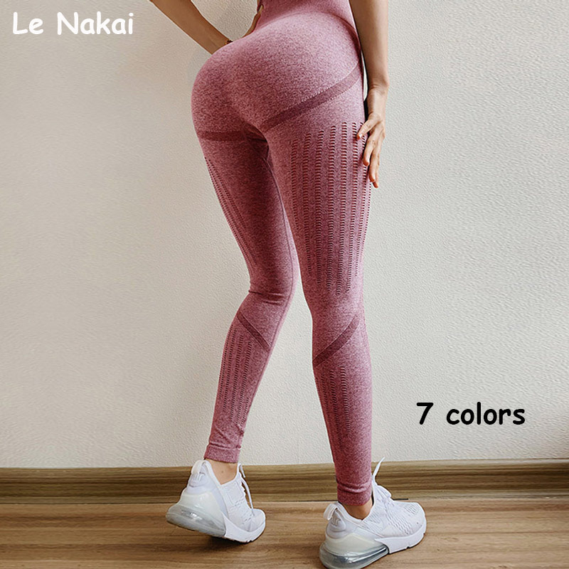 High waist energy seamless leggings super stretchy yoga legging push up yoga pants workout gym leggings athletic sport legging