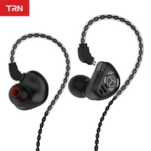 TRN Headphones 4BA +1DD Metal Headset Hybrid Units HIFI Bass Earbuds Monitor Ear