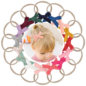 Nylon Bow Elastic Band Headband DIY Hairband Baby Kids Headwear Girls Hairstyle Head Wrap Children Headbands Hair Accessories 11pcs lot soft nylon headband for baby girl diy hair accessories elastic head band kids children fashion headwear baby turban