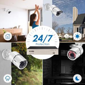 Image 3 - ZOSI H.265 + 8CH 5MP POE אבטחת מצלמה מערכת ערכת 8x5MP סופר HD IP מצלמה חיצוני עמיד למים CCTV וידאו מעקב NVR סט