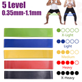 Yoga Widerstand Gummi Bands Fitness Elastische Bands 0,3-1,1mm Gym Festigkeit Ausbildung Pilates Latex Elastische Bands Indoor Ausrüstung