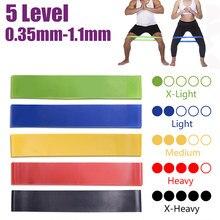 Yoga Weerstand Elastiekjes Fitness Elastische Bands 0.3-1.1Mm Gym Krachttraining Pilates Latex Elastische Bands Indoor Apparatuur